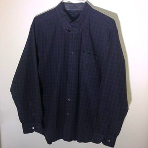 Tommy Hilfiger Men's Purple Black Plaid Shirt XL